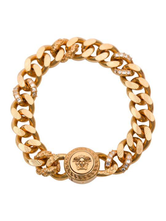 Versace Medusa Head Crystal-embellished Bracelet