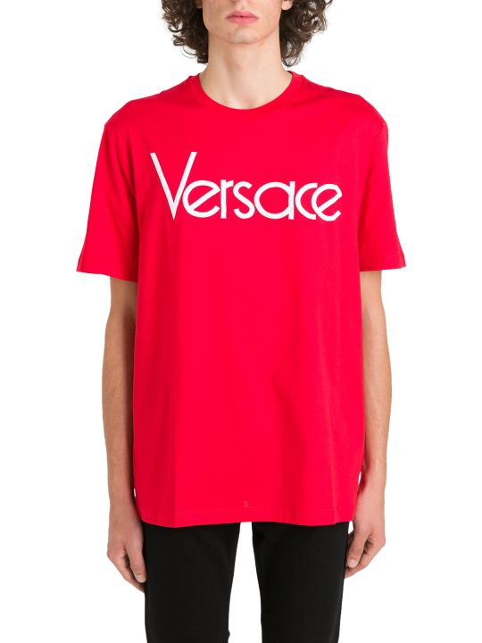 Versace Embroidered Logo Tee