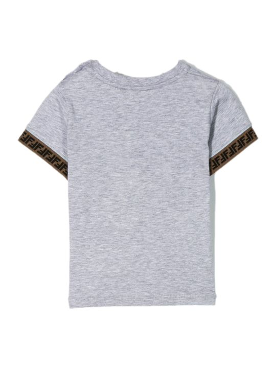 Fendi Grey Cotton T-shirt