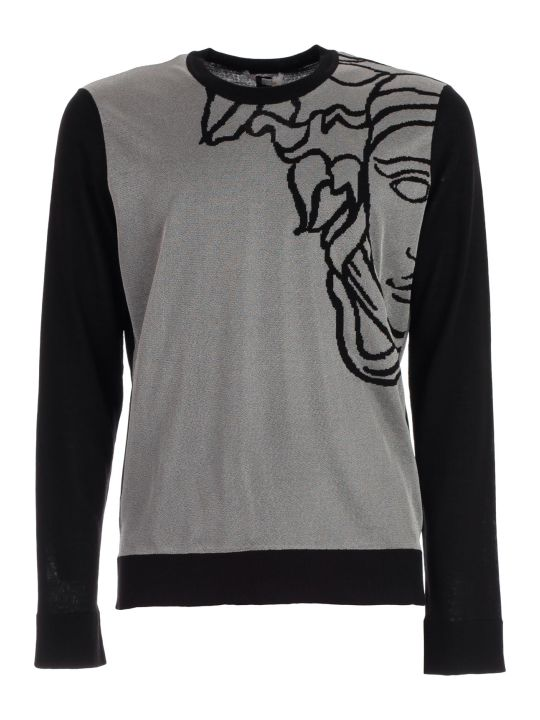 Versace Collection Sweater L/s W/medusa On Shoulder