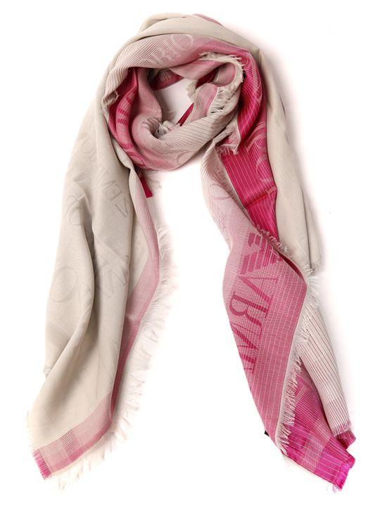 Emporio Armani Cotton Blend Scarf With Emporio Armani Logo