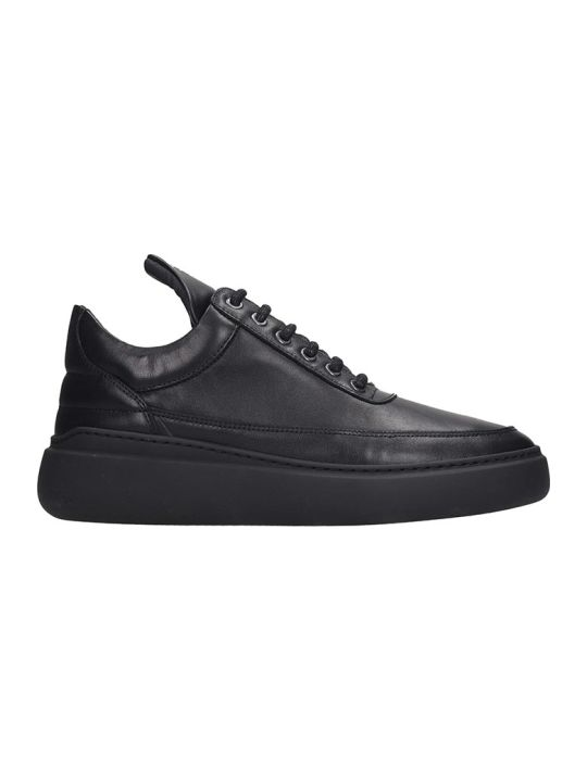 Filling Pieces Low Top Angelic Sneakers In Black Leather