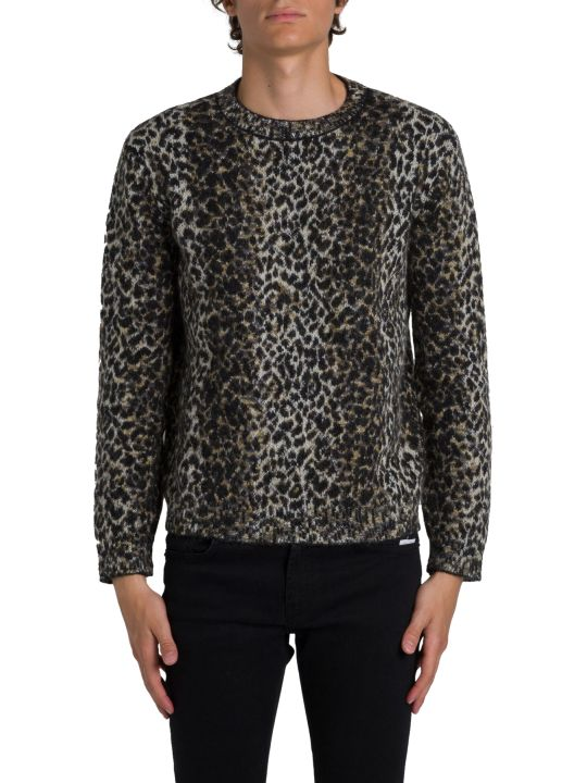 Saint Laurent Leopard Sweater