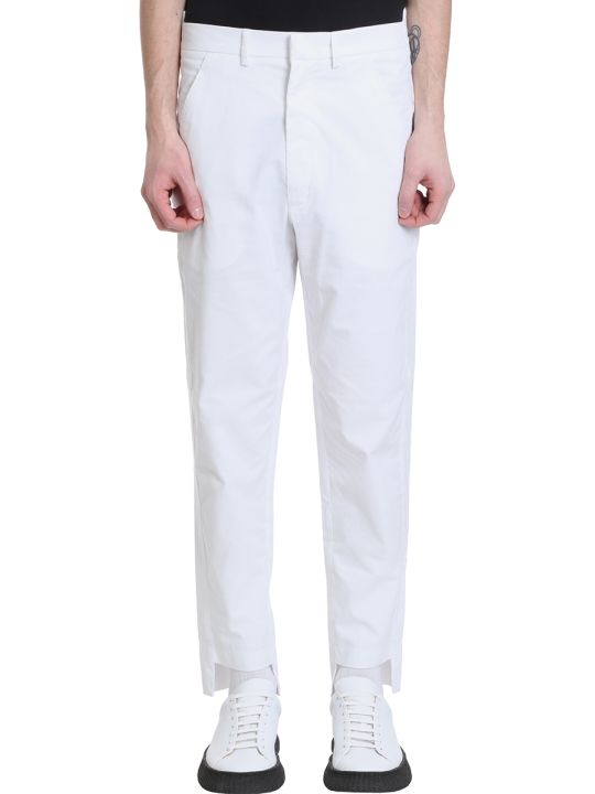 Maison Flaneur Chino White Velour Pants