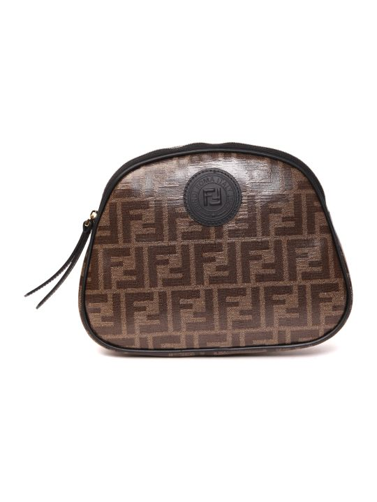 Fendi Beauty Case With Ff All Over Motif