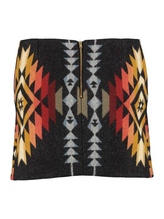 Jessie Western Pueblo Wool Mini Skirt