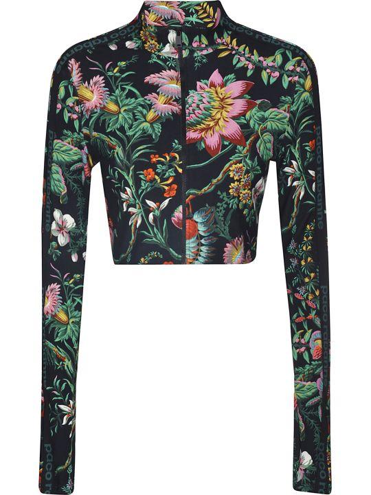 Paco Rabanne Floral Print Cropped Jacket