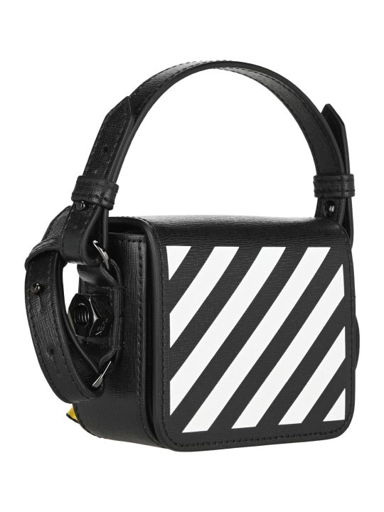 Off-White Off White Diag Baby Binder Clip Shoulder Bag