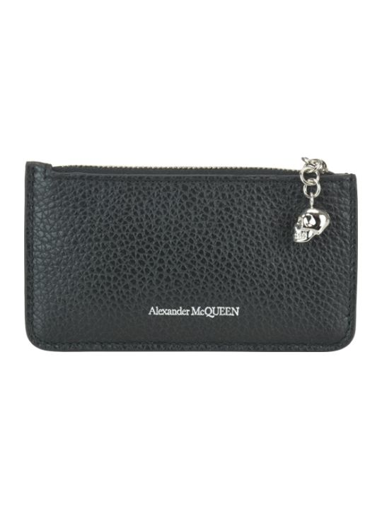 Alexander McQueen Card Holder Zip Coining Gold