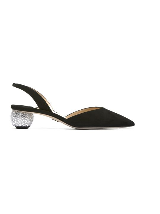 Paul Andrew Crystal-heel Slingback Pumps
