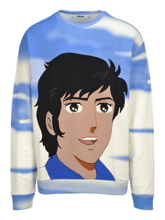 """MSGM Msgm """"shiro"""" Print Sweatshirt"""