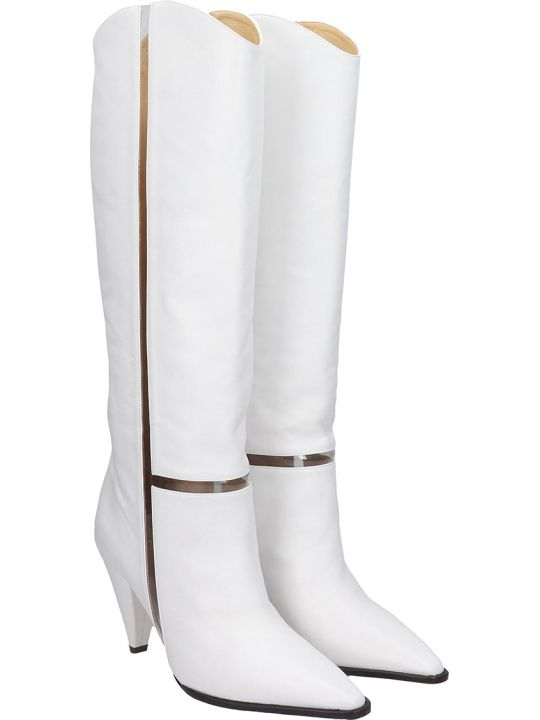 Alexandre Birman Dora Boot 90 Boots In White Leather
