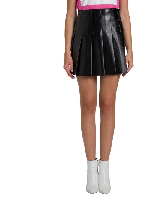 MSGM Laminated Faux Leather Kilt