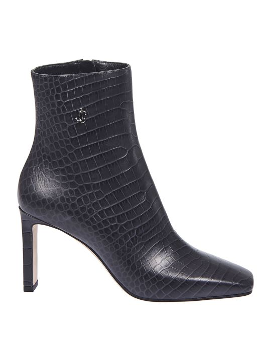 Jimmy Choo Logo Detail Ankle Boots