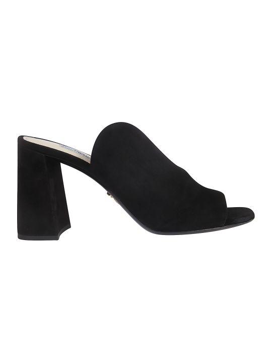Prada Block Heel Mules