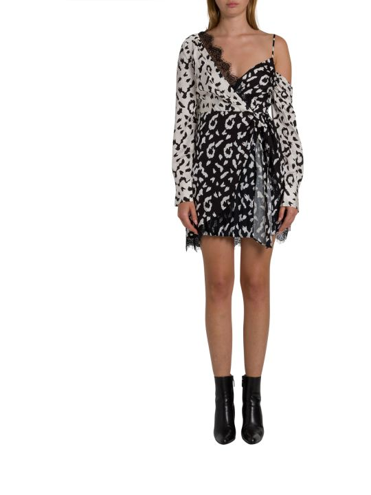 self-portrait Leopard Jacquard One-shoulder Minidress