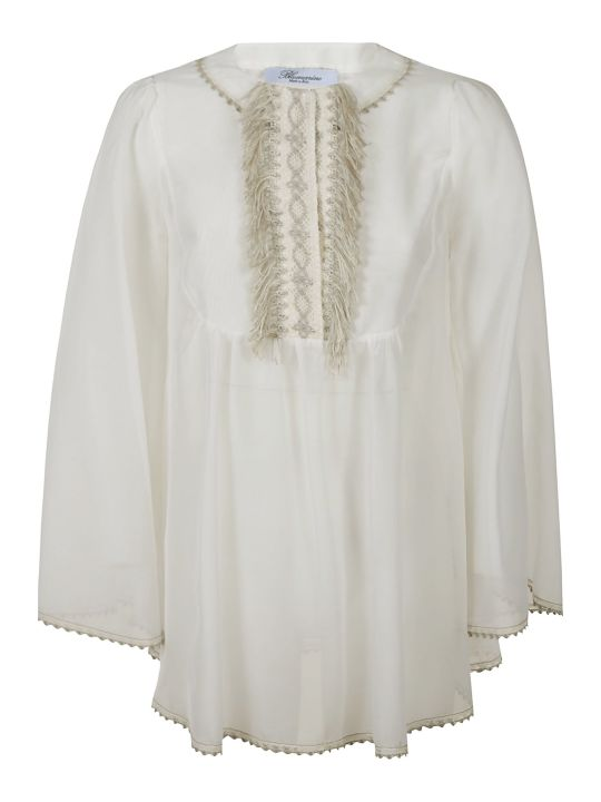 Blumarine Fringed Front Top
