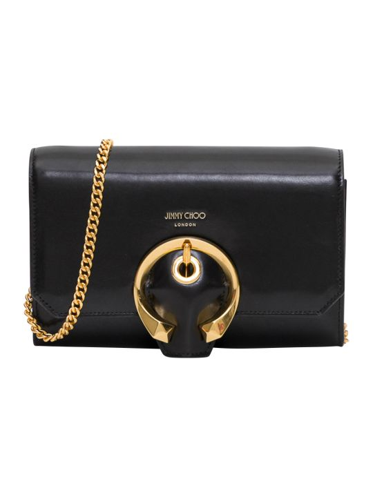 Jimmy Choo Madeline Mini Calf Leather Metail Bukle Bag