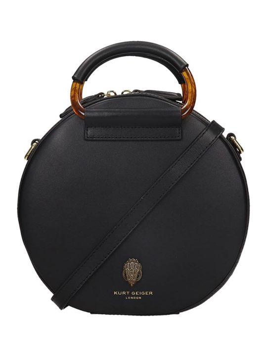 Kurt Geiger Harriet Eagle Hand Bag In Black Leather