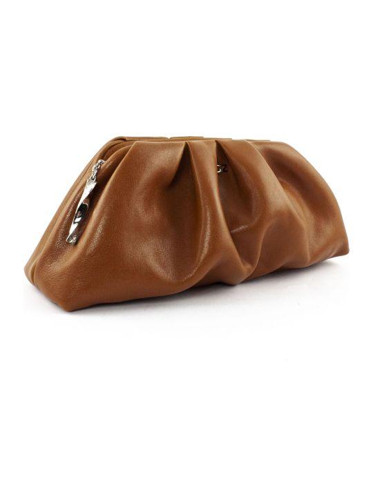 Giuseppe Zanotti Brown Tomato Clutch Bag