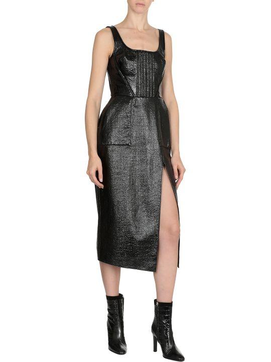 David Koma Patent Midi Dress