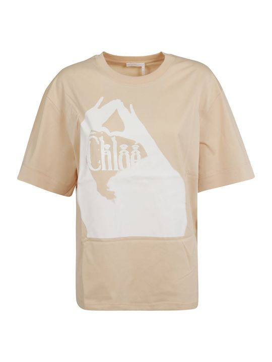Chloé Printed Detail T-shirt