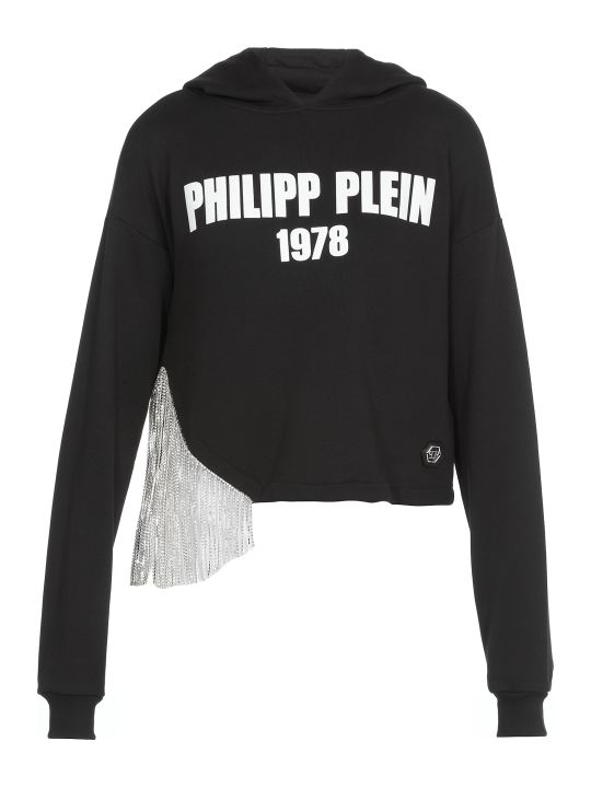 Philipp Plein Croopped Sweatshirt With Logo