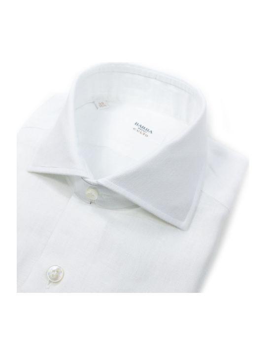 Barba Napoli White Linen Shirt