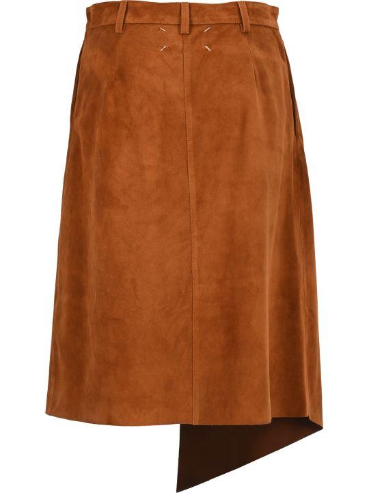 Maison Margiela Martin Margiela Asymmetric Suede Midi Skirt