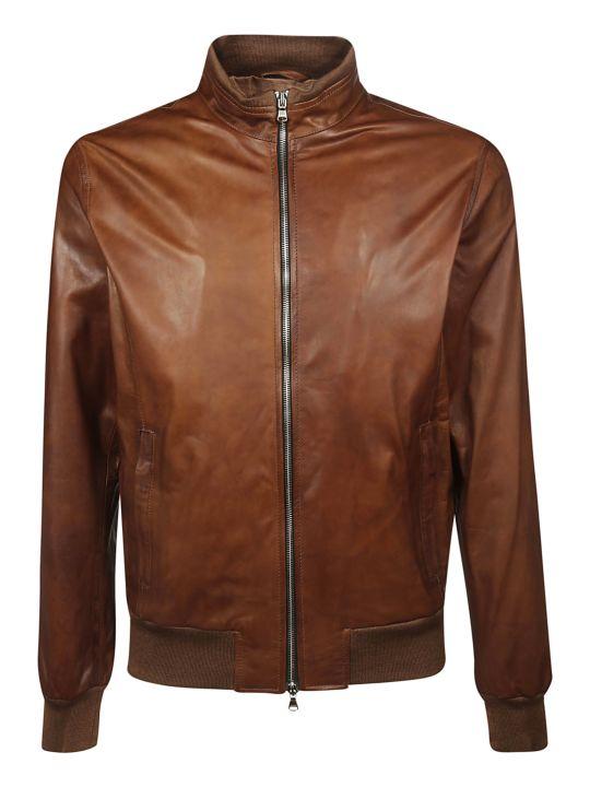 Barba Napoli Fox Leather Jacket