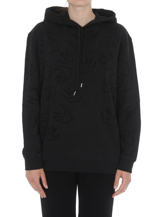 McQ Alexander McQueen Boyfriend Hoodie With Swallow Detail