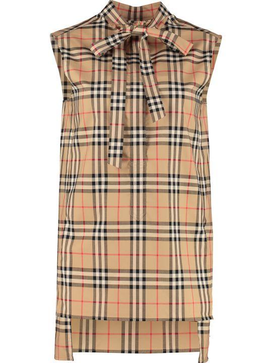 Burberry Cotton Sleeveless Shirt