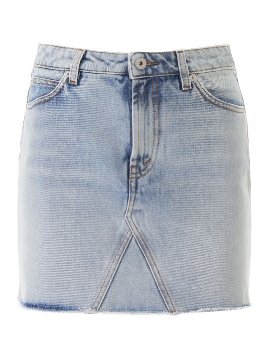HERON PRESTON Denim Mini Skirt