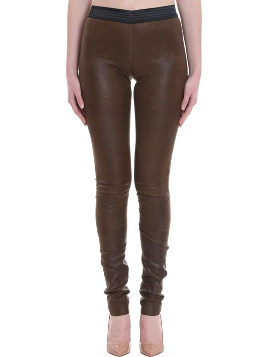 DROMe Pants In Brown Leather