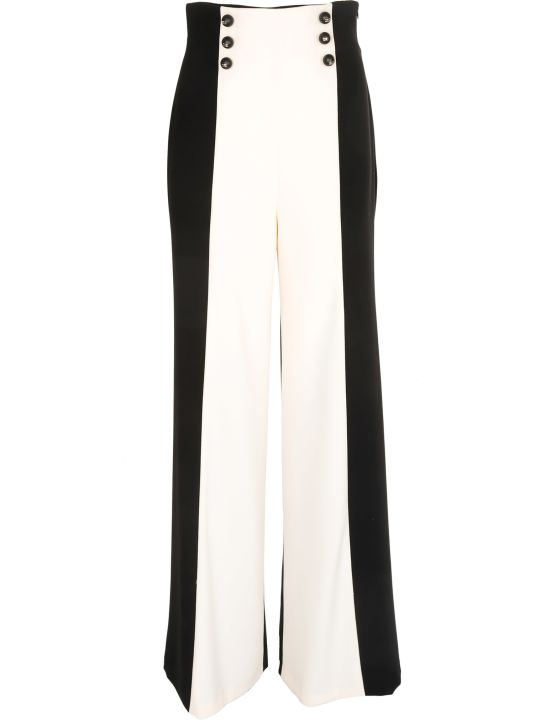 Elisabetta Franchi Celyn B. Elisabetta Franchi For Celyn B. Two-tone Palazzo Trousers
