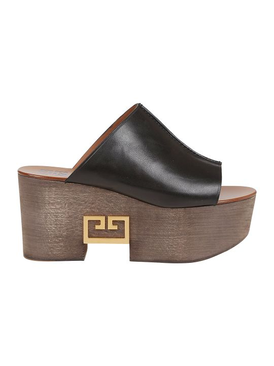 Givenchy Logo Wedge Sandals