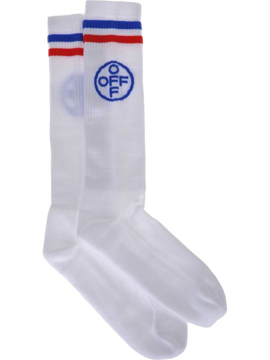 Off-White Off White Off-white Long Cross Off Socks