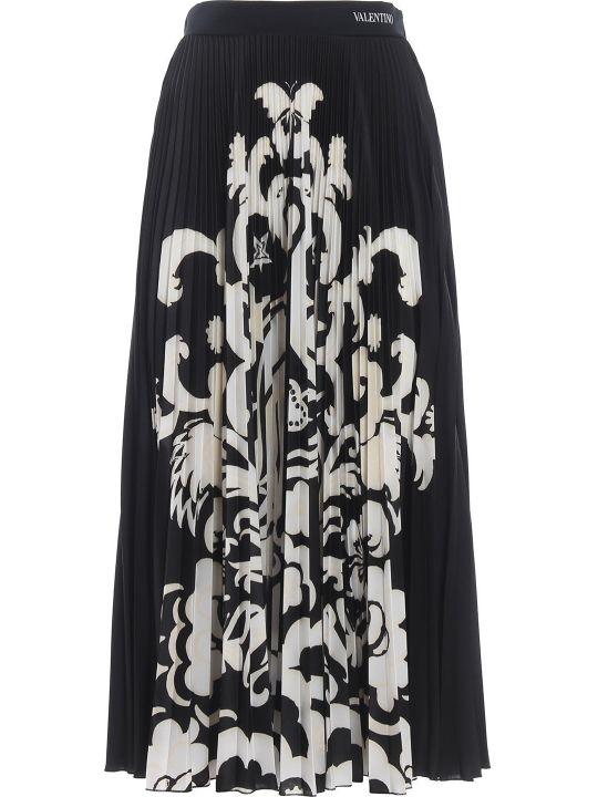 Valentino Floral Print Skirt