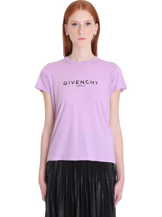 Givenchy T-shirt In Viola Cotton