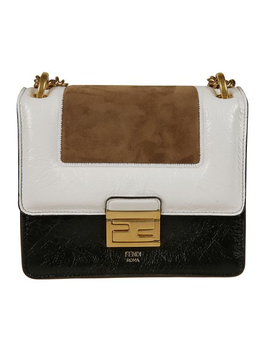 Fendi Kan U Small Embossed Shoulder Bag