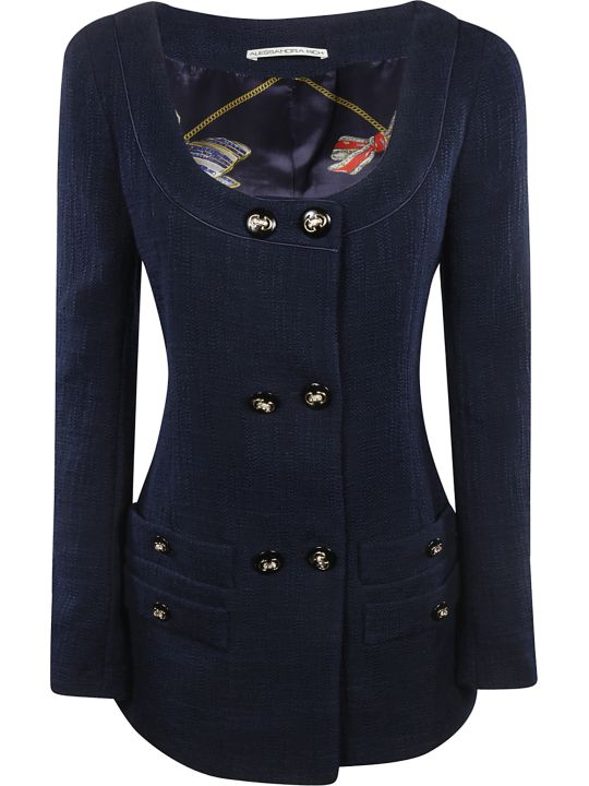 Alessandra Rich Double-breasted Blazer Dress