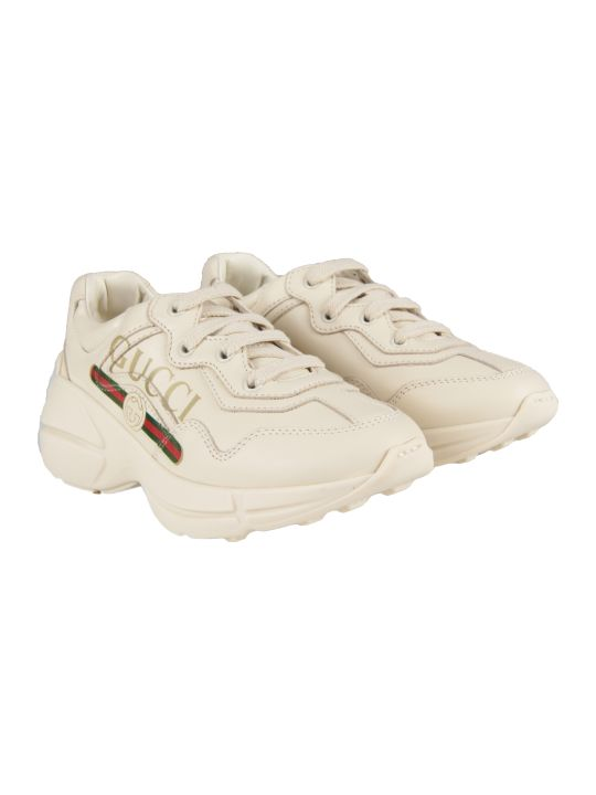 Gucci Ivory Kids Chuncky Sneaker With Logo