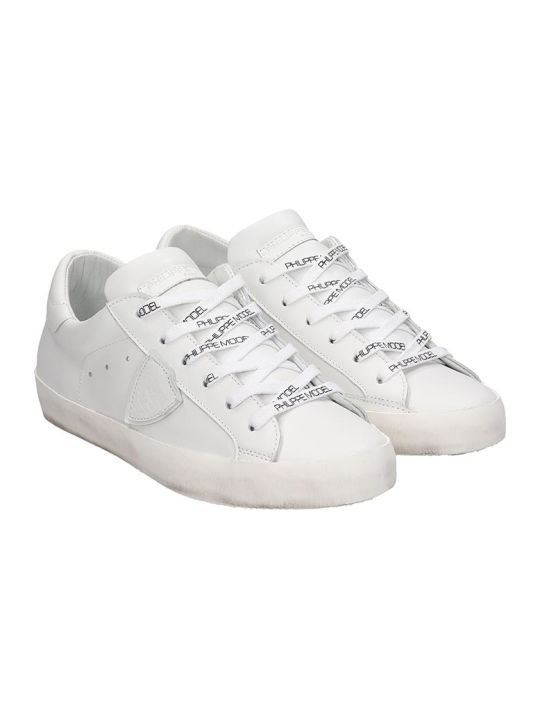Philippe Model Paris Sneakers In White Leather