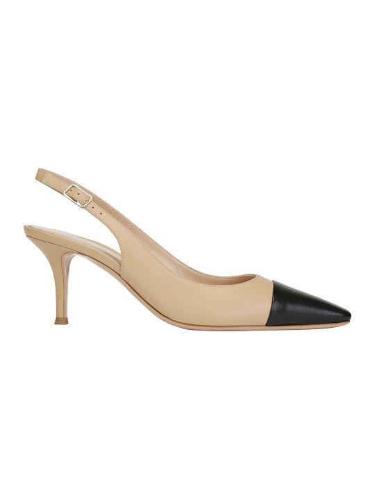 Gianvito Rossi Lucy Slingback Leather Sandal
