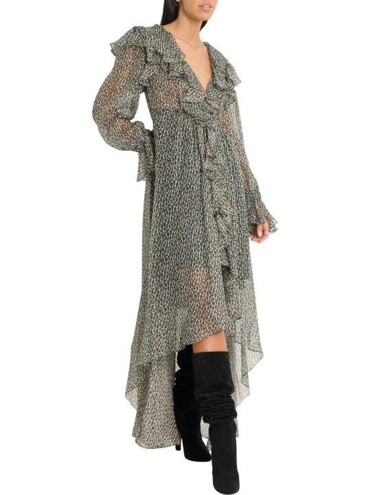 Philosophy di Lorenzo Serafini 3d-effect Leopard-print Dress With Ruffles