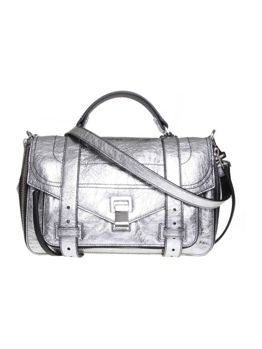 Proenza Schouler Ps1 Shoulder Bag In Leather Colored Silver