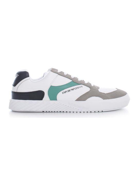 Emporio Armani Sneakers Cow Suede Polyurethane Nylon