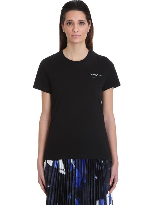 Off-White Corals Print T-shirt In Black Cotton