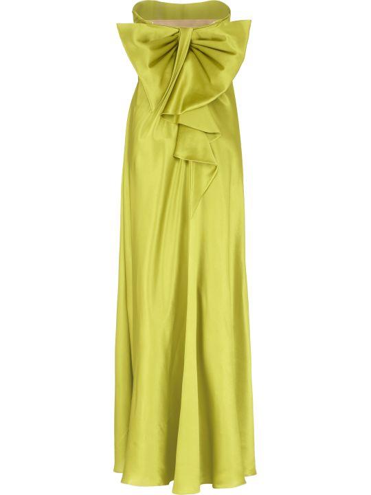 Alberta Ferretti Silk Satin Gown