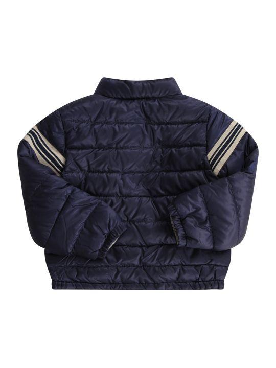 Moncler Blue Babyboy Jacket With Blue Logo